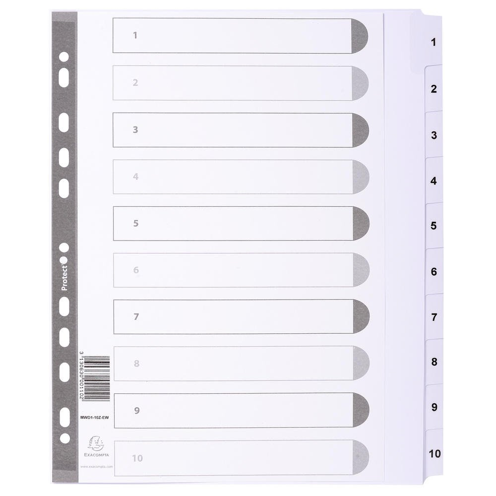 Exacompta Mylar Printed Indices, A4, 20 Part (A-Z) - White