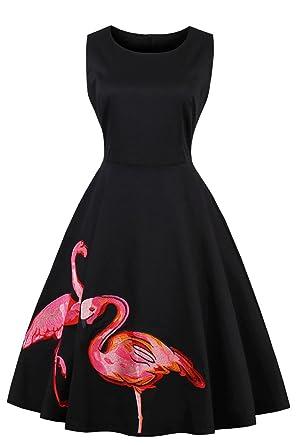 Rockabilly kleid schwarz pink