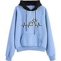 Hoodie dames capuchontrui hoedprint naai-zak hoodies herfst winter pullover oversized sweatshirt dames met capuchon…