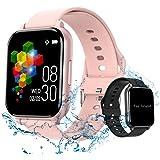 (2021 Nuevo modelo) Yabely Smartwatch Pulsera Inteligente,reloj Pantalla completa táctil 1.55 Pulgadas , monitores de activid
