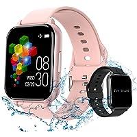 (2021 Nuevo modelo) Yabely Smartwatch Pulsera Inteligente,reloj Pantalla completa táctil 1.55 Pulgadas , monitores de…