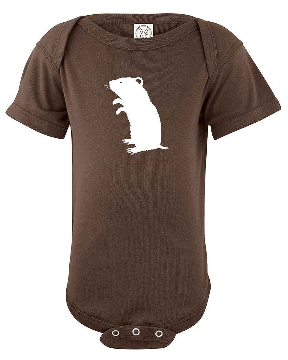 Hamster Silhouette Baby Bodysuit