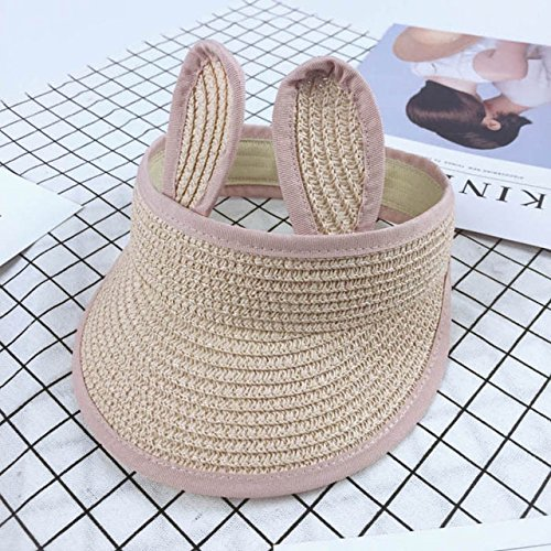 Bunny Camo (ArMordy(TM) Folding Bunny Baby Hat Summer Straw Visor Cap Kids Cute Adjustable Baby Sun Hat for Boys Girls 1 PC[ Pink ])