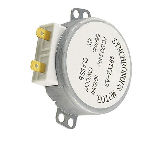 Aexit AC 220-240V eléctrico 4W 5/6RPM Tocadiscos motor ...