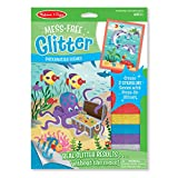 Make 2 peel-and-sparkle scenes! Our patented technology lets kids get the look and feel of real glitter without the mess. One simple process creates amazing results: Just peel away a section of white paper from the exciting underwater scenes to revea...