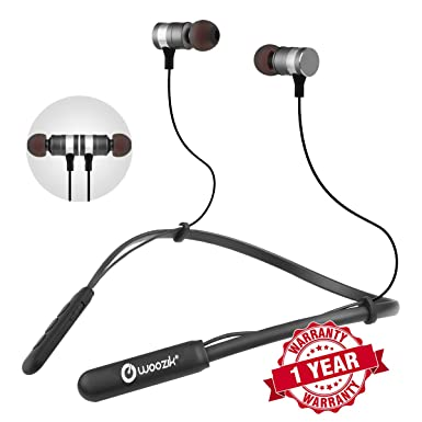 af1b4a2c934 Woozik Flex Wireless in-Ear Headphones,Waterproof Neckband Headset, iPX4  Sweatproof Sport Fit