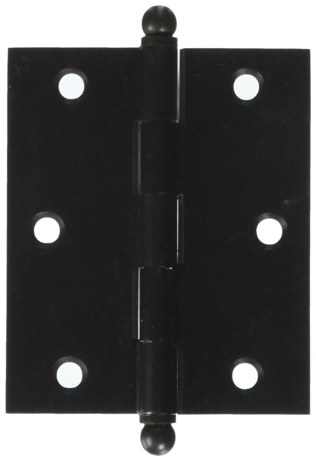 Deltana CH3025U10B Solid Brass 3-Inch x 2-1/2-Inch Cabinet Hinge with Ball Tips by Deltana