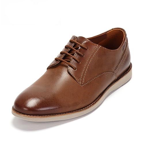 Clarks Franson Plain, Men's Derby, Brown (Tan Leather), 7 UK (
