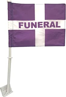 product image for Funeral 8x12 Car Window Flag - Clips to Car Window - Durable, Double Sided All Weather Nylon - Flags Made in USA!