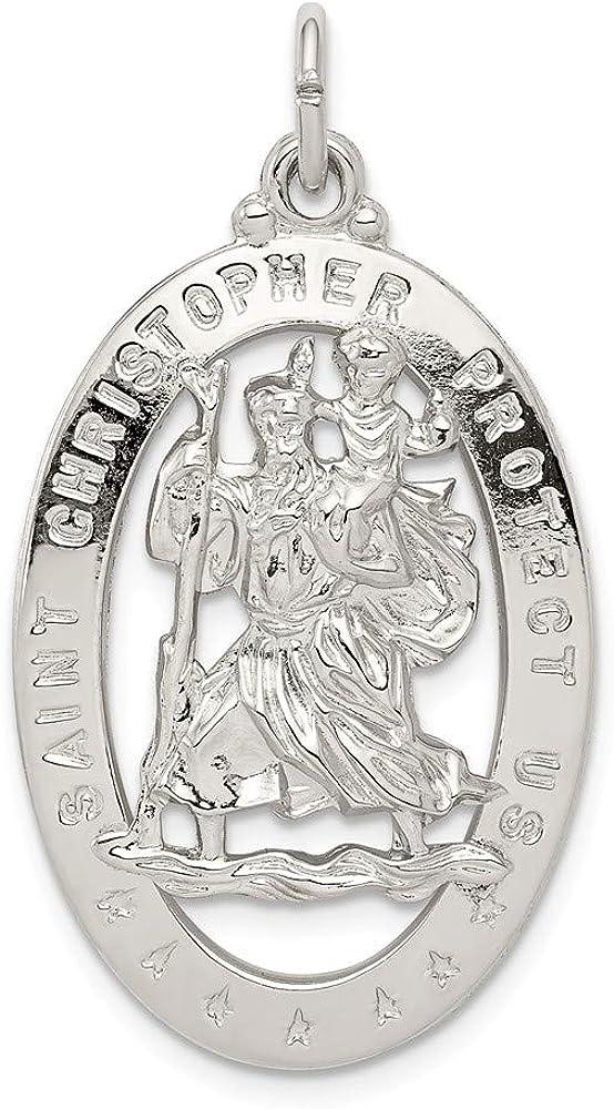 Mia Diamonds 925 Sterling Silver Polished Diamond-Cut initial T Pendant