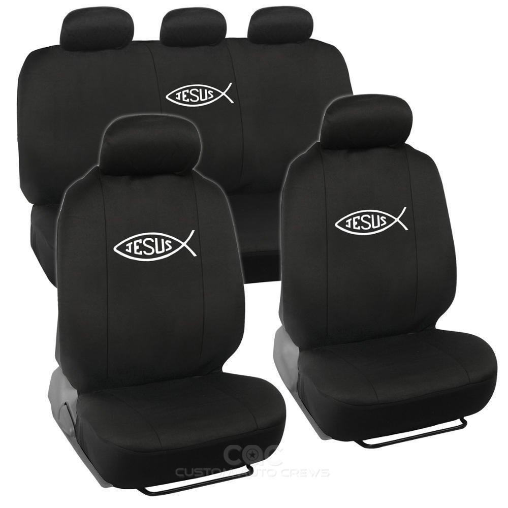 Amazon Com Jesus Fish Car Seat Cover Set 12pcs Automotive