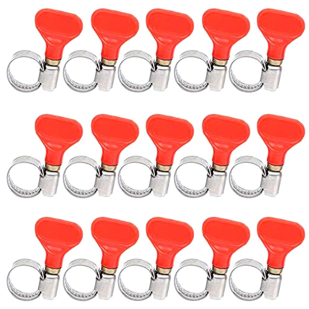 Loneflash 15 Pack Drainage Pipe Faucet Clamp Fixed Clamp Pipe Throat Hoop Inflatable Pipe