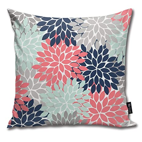 Cocoal-ltd Funda de cojín con diseño Floral de pétalos de ...