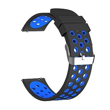 Correa universal de silicona con liberación rápida para relojes inteligentes de 18, 20 y 22 cm: Amazon.es: Electrónica