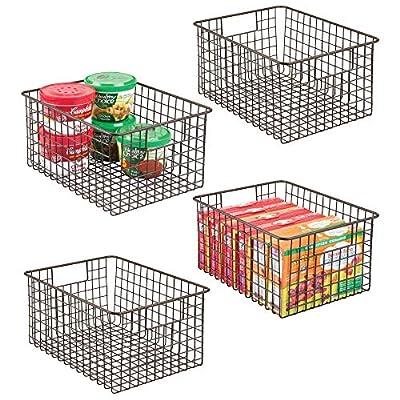"mDesign Metal Wire Food Storage Organizer Bin, 12"" x 9"" x 6"""