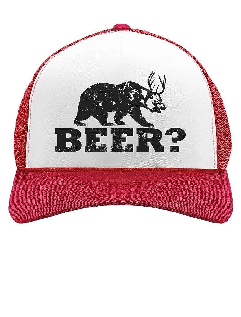 Tstars - Deer Beer Bear - Funny Vintage Style Retro Trucker Hat Mesh Cap GM0Pha3g5-Ma5-96e