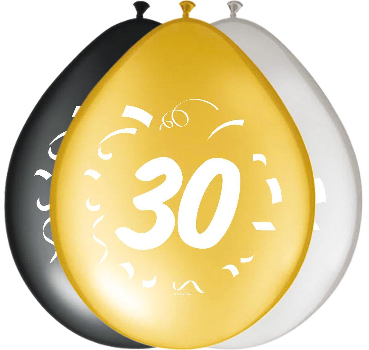 Partyset 30 Unbekannt 22-tlg Geburtstag Dekoset schwarz//gold