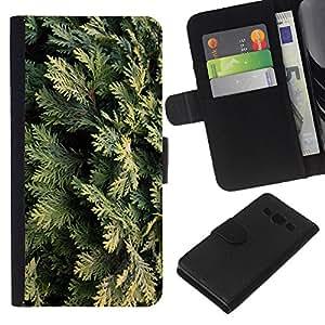 WINCASE Cuadro Funda Voltear Cuero Ranura Tarjetas TPU Carcasas Protectora Cover Case Para Samsung Galaxy A3 - enebro Hojas del árbol de la naturaleza