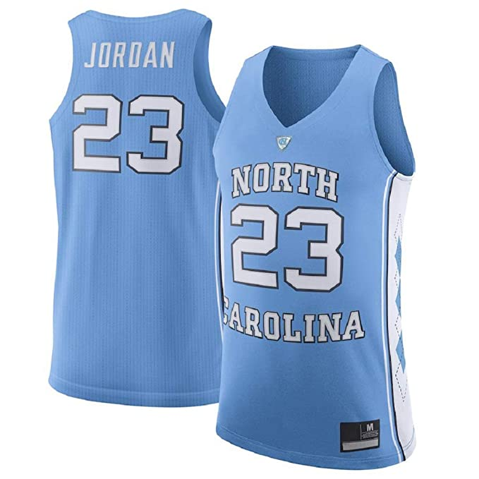 new arrival 0265c e312a Michael Jordan Men's #23 Light Blue North Carolina Tar Heels Basketball  Jersey