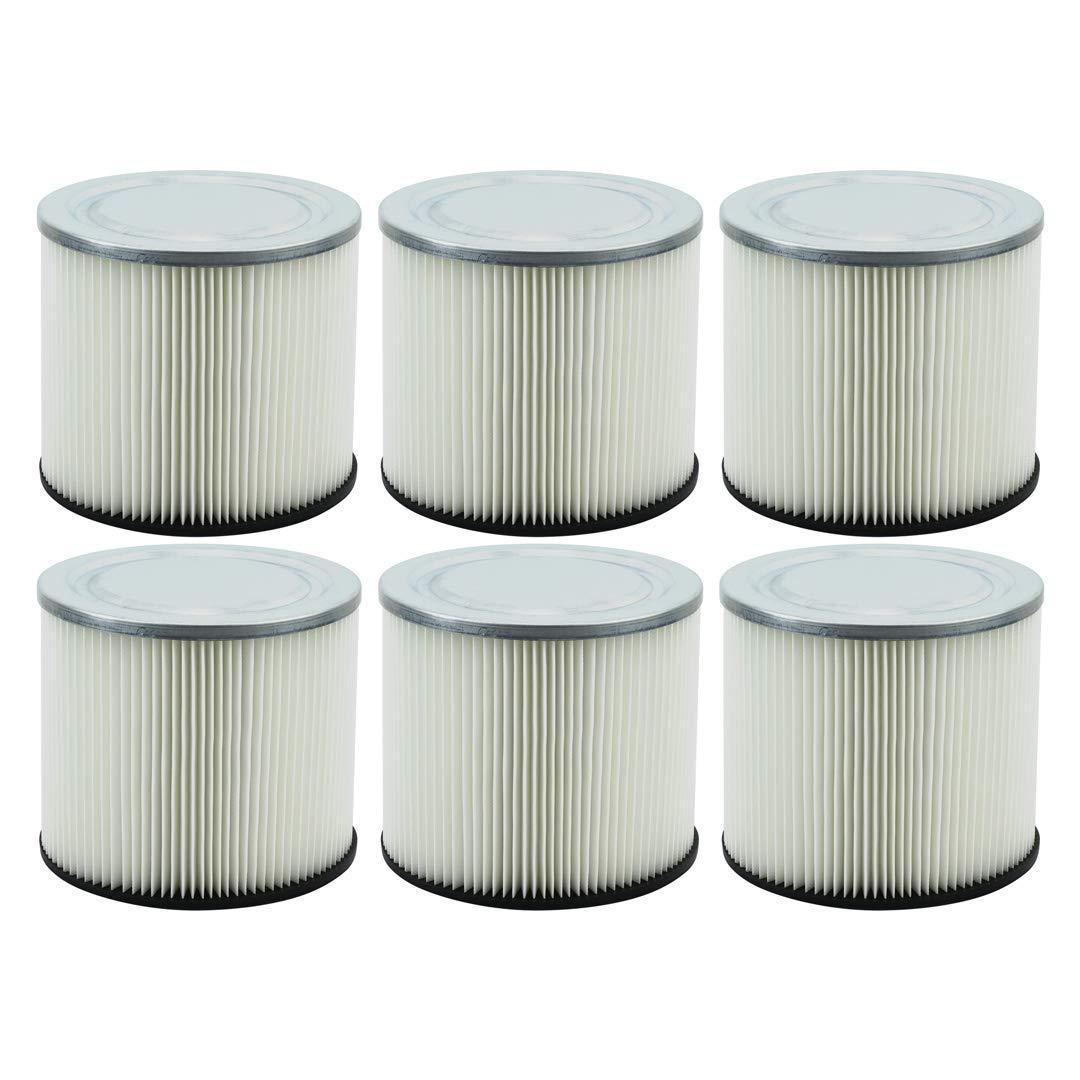 6 Pack Felji Shop-Vac 90304 9030400 Cartridge Filter Replacement Type U H12 fits Wet & Dry Vacs