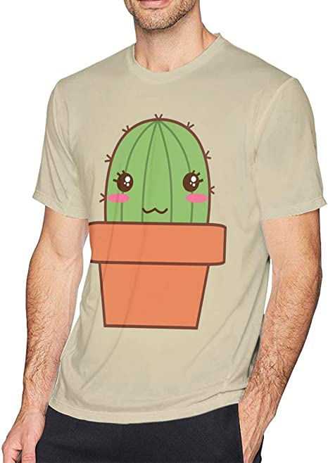 AIZENN - Camiseta de manga corta para hombre, diseño de cactus: Amazon.es: Deportes y aire libre