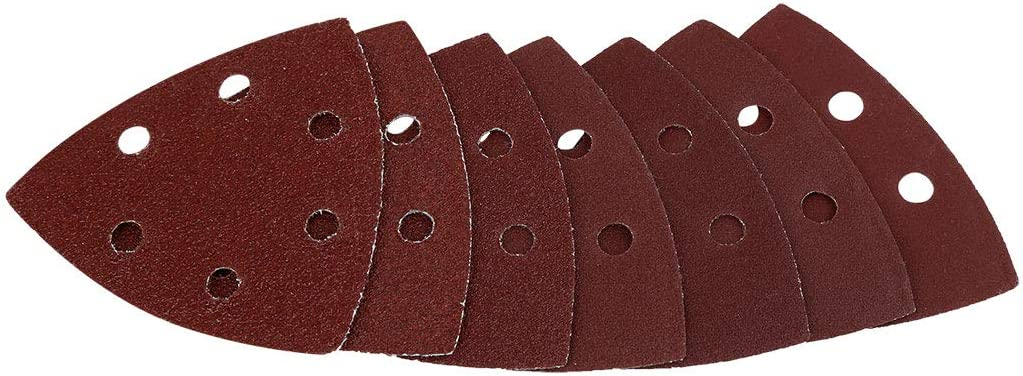 uxcell 70pcs 3.5 Inch Hook and Loop Sanding Discs Pads 40 60 80 120 150 180 240 Assorted Grits 6 Hole Sandpaper