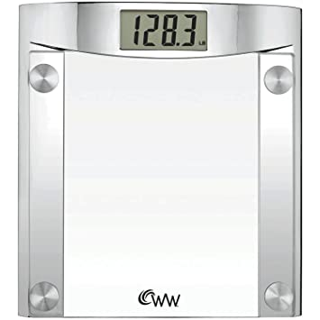 Amazoncom Weight Watchers By Conair Digital Glass Bathroom Scale - How to calibrate a bathroom scale
