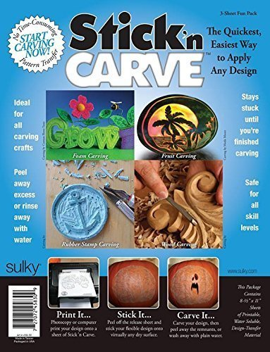 Sulky Stick N Carve Fun Pack (24 sheets) by Stick n Carve
