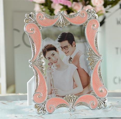 weiwei Portaretrato resina retro, Estudio de fotografía de boda rectangular Foto marco de decoración del