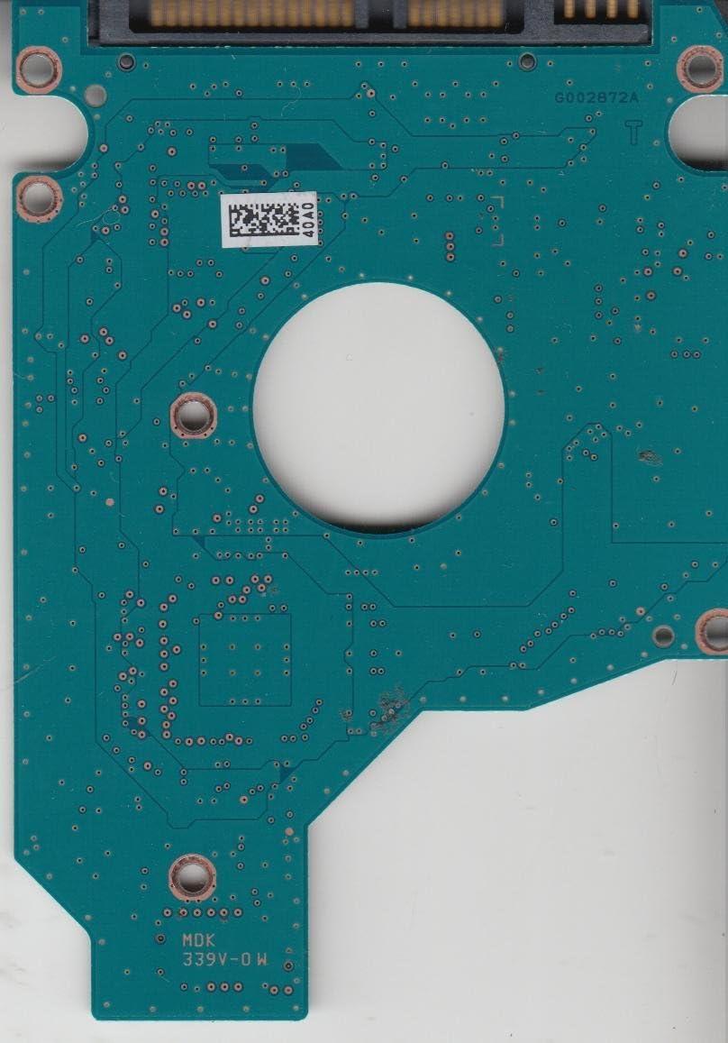 A0//MH000A MK5061GSYNW G002872A Toshiba SATA 2.5 PCB HDD2F22 W RL01 T