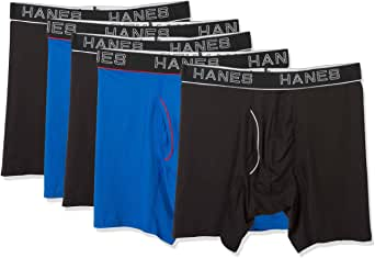 Hanes Comfort Flex Fit Breathable Mesh Boxer Briefs Assorted 5-Pack (4 + 1 Free) (UWBB5A) -Assorted -L -5PK