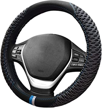 Zone Tech Car Steering Wheel 12V Heated Cover Classic Black Premium Quality Ultra Comfortable 12V Vehicle Heated Wheel Protector