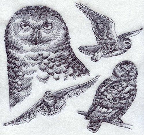 Snowy Owl Custom Embroidered Sweatshirt Shirt