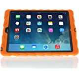 Apple iPad Air Hideaway with Stand Orange Gumdrop Cases Silicone Rugged Shock Absorbing Protective Dual Layer Cover Case