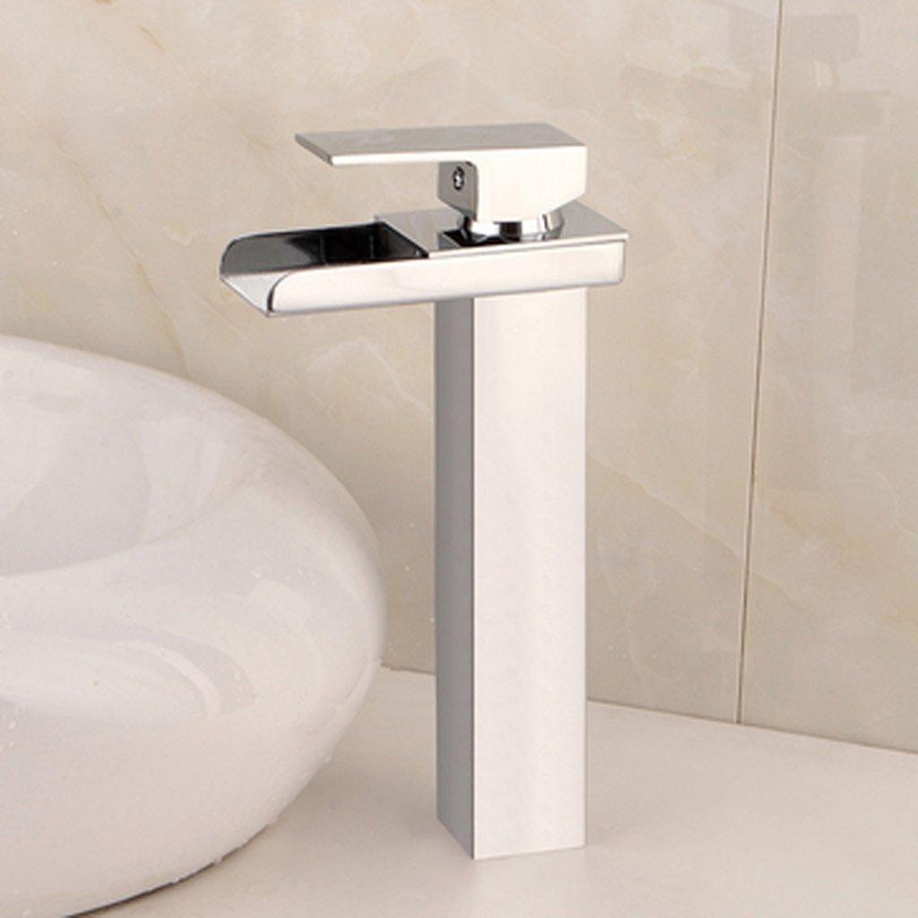 HYLR Alle Messing Kein Blei Kreativer moderner Wasserfall Wasserhahn Überzug Einloch Warmes und Kaltes Badezimmer Küche Wasserhahn Hydrant Wasserhahn