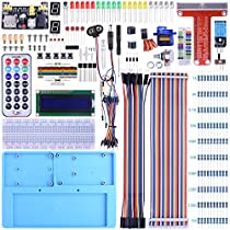 BONROB Raspberry Pi Starter Learning Kit with GPIO Expansion Board LCD RGB Breadboard Infrared Remote Control for Raspberry Pi 3B+ 3B 2B A+ ZeroBS002 (Completer Set) (Black)