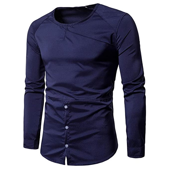 SanKidv-Herren Hemd Slim Fit Langarm Hemd Langarmshirt Herren  Freizeithemden Herren Langarm Shirt Business Hochzeit Freizeit  Amazon.de   Bekleidung 167a40be63