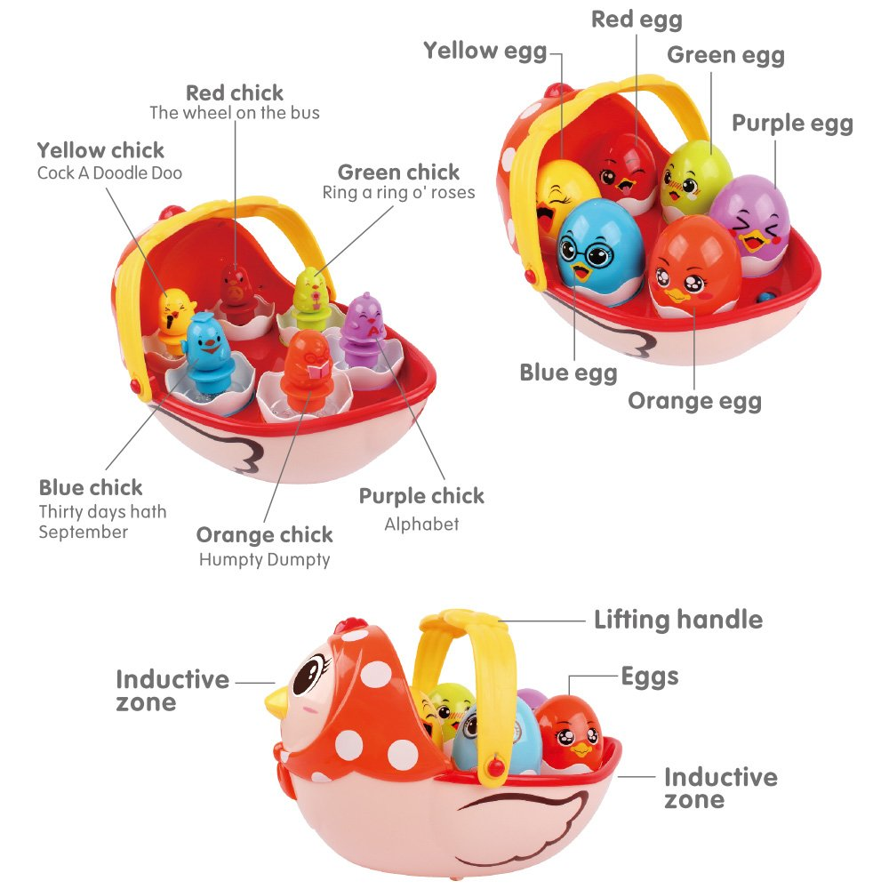 BAOLI Music Toy Education Gift for Toddler Kid Hen Mother and Chicken Egg