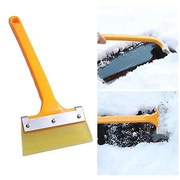 SMARTRICH - Espátula de Nieve, para Parabrisas de Coche, Transparente, para rascar Hielo