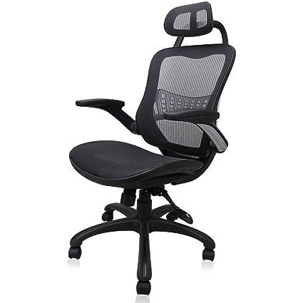 Ergonomic Mesh Office Chair, Komene Swivel Desk Chairs High Back Computer  Task Chairs With Adjustable