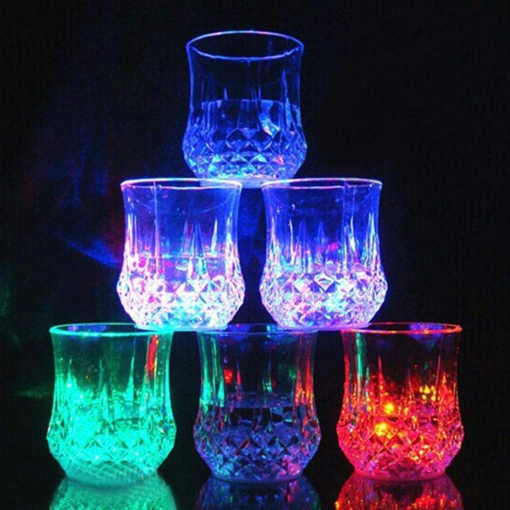 Liquid Activated Multicolor LED Glasses Night Light Cup ICCUN