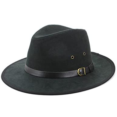 6fb5f2d4 Hawkins Suede Effect Fedora Hat with Leather Band: Amazon.co.uk: Clothing