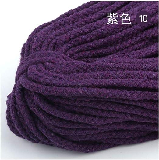 NHGTJV Cuerda Cuerda de cordón Trenzado Decorativa de Color Grueso ...