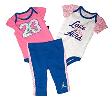 ecadbfc4e138 Image Unavailable. Image not available for. Color  Nike Jordan Baby 2  Bodysuits   Pant Set ...
