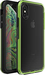 Lifeproof SLAM Series Case for iPhone Xs MAX (ONLY) - Retail Packaging - Night Flash (Clear/Lime/Black)