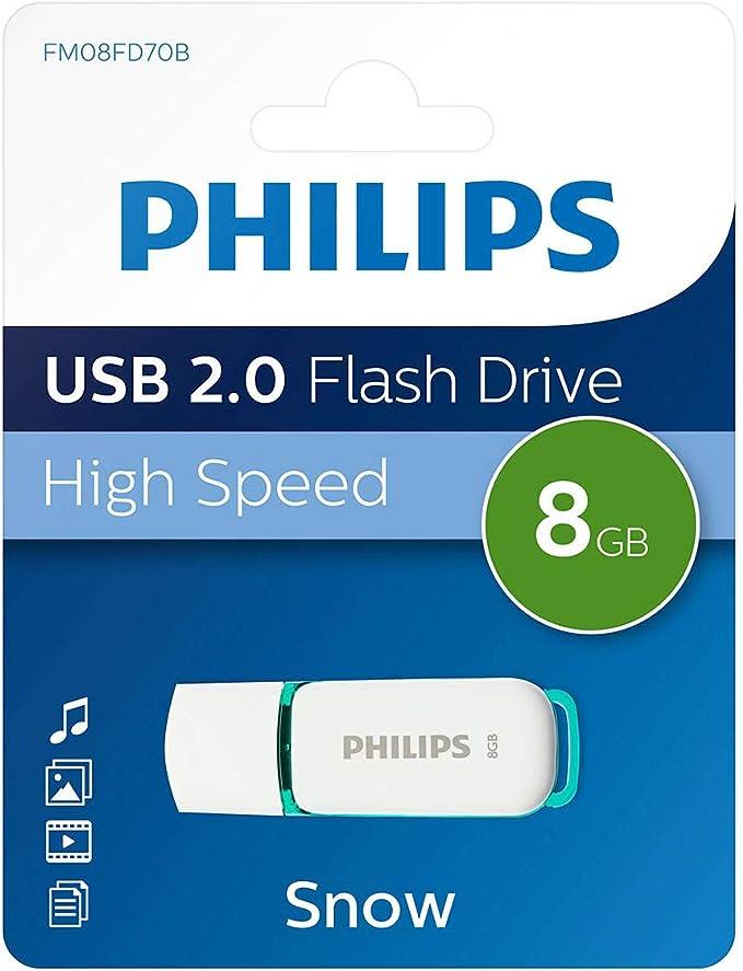 Philips Snow 2.0 - Memoria USB de 8 GB: Amazon.es: Informática