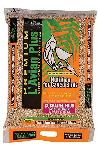 L'Avian Plus Cockatiel Food No Sunflower, 25 lb