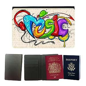Passeport Voyage Couverture Protector // V00002278 Fondo del estilo de la pintada de // Universal passport leather cover