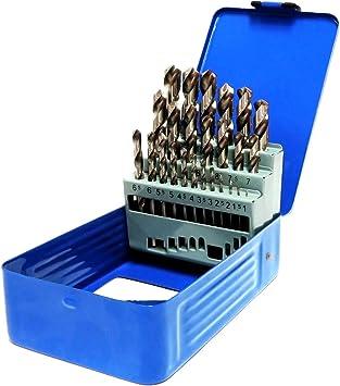 S&R Juego de brocas para metal Set 1-13mm 118 °, Caja con 25 Brocas Rectificadas, serie GM DIN 338, HSS - acero metal. Calidad profesional: Amazon.es: Bricolaje y herramientas