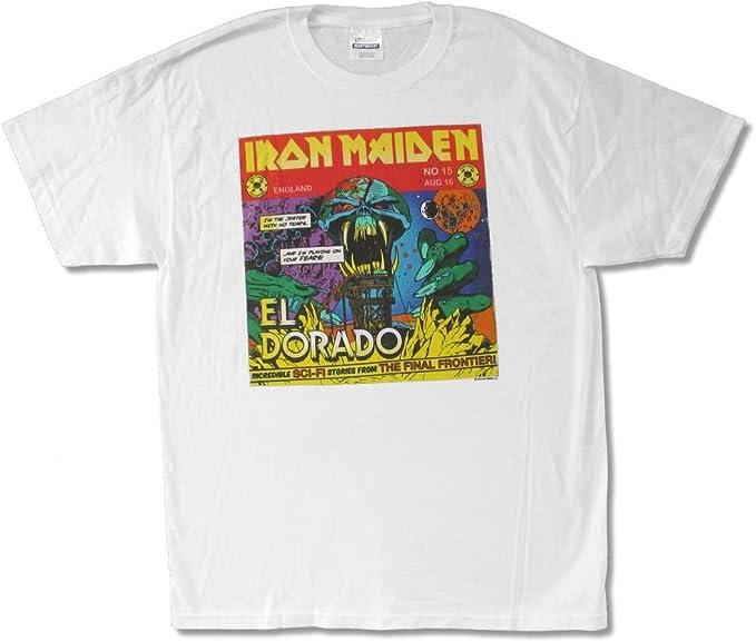 Iron Maiden El Dorado Comics 2010 World Tour - Camiseta para Hombre, Color Blanco - - X-Large: Amazon.es: Ropa y accesorios